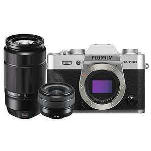 Fujifilm X-T30 Mirrorless Camera with XC15-45mm and 50-230mm Lenses - £709.10 with code @ Jessops