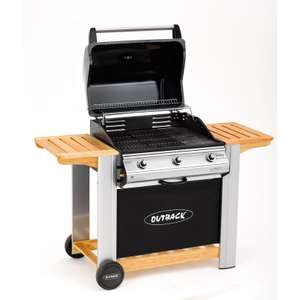 Outback Hooded 3 Burner Gas BBQ - £188 @ Homebase