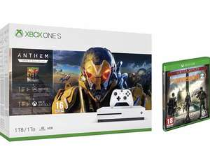 Xbox One S 1TB Console - Anthem Bundle + Tom Clancy's The Division 2 Limited Amazon Edition £199.99 from Amazon
