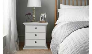Argos Home Canterbury 3 Drawer Bedside Chest - White now £31.99 free click and collect at Argos