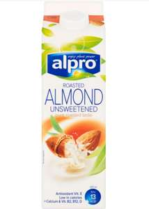 Alpro Roasted Almond Unsweetened Drink Chilled- Buy 2/5p each after cashback(COS) - £2.50 @ Asda