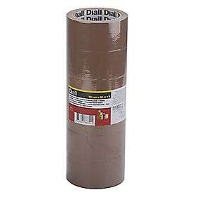 6 Rolls of Brown Parcel Tape - £3.49 at Screwfix (Free C&C)