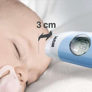 NUK Flash Contactless Baby Thermometer for Babies Forehead Bath Temp Room Temp - Low Stock - £23.91 @ Amazon