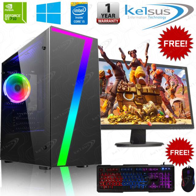 Gaming PC Quad Core I5 Computer Gt710 1tb HDD 8gb RAM Win 10 Desktop - £264.99 @ eBay / kelsusit