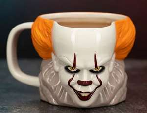 IT Pennywise Shaped Mug – UK Exclusive - £13.79 (using code SIZZLE & delivery £2.99) at Menkind