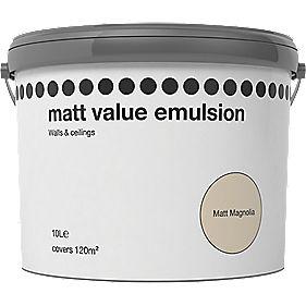 MATT EMULSION MAGNOLIA 10LTR (Stock Clearance) @ Screwfix