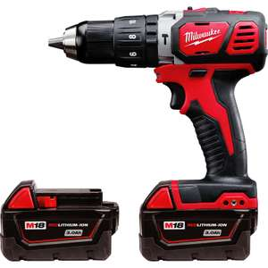 Milwaukee M18BPD-302C 18V Li-Ion Cordless Compact Combi Drill 2 x 3.0Ah for £129.98 @ Toolstation (free c&c)