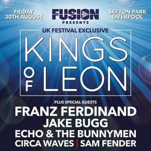 Fusion Presents Kings of Leon. Tickets £38.25 with code @ Groupon