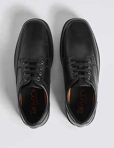 Extra Wide Black Leather Shoes with Airflex™ - Most sizes in Stock (free C&C) @ Marks & Spencer  - £35.00.  More in OP