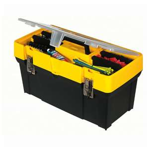 "Stanley Essential 19"" Toolbox with Metal latches, Black/Yellow, £8.49 w/code @ Robert Dyas (Free C&C)"