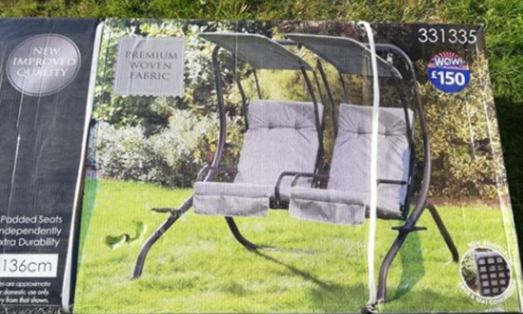 B&M double swing chair £40