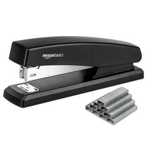 AmazonBasics Stapler-Black with 3-pack of 1000 Staples (See OP for more value deal link) for £4.79 @ Amazon Add-on Item
