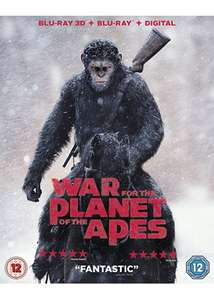 War for the Planet of the Apes (3D Blu-ray + Blu-Ray + Digital) £3.99 delivered @ Base