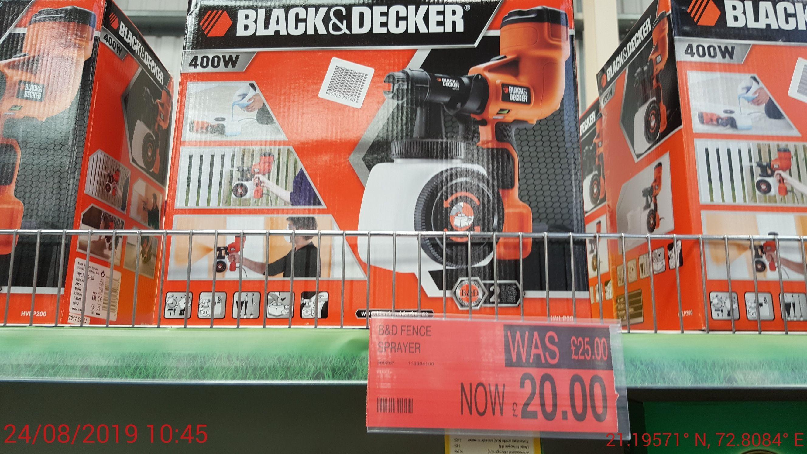Black and decker sprayer - £20 @ B&M (Corby)