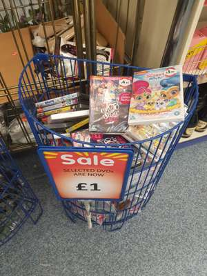 All kids DVDs now £1 B&M belle vale