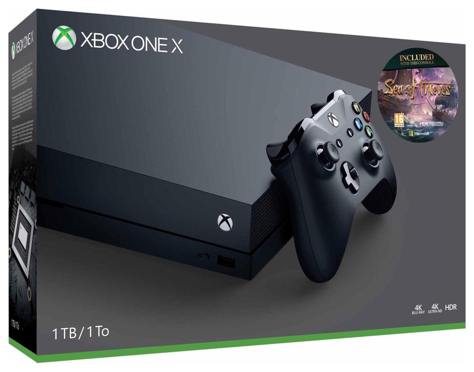 Microsoft Xbox One X 1TB 4K Gaming Console - Black (refurb) + SEA OF THIEVES £278.99 at Argos eBay