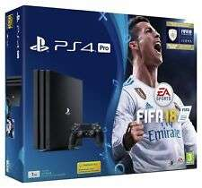 Sony PlayStation 4 PS4 Pro 1TB 4K FIFA 18 Console Bundle - Black - £309.99 @ Argos eBay