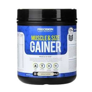 Precision Engineered Muscle & Size Gainer Powder Vanilla 1.9kg  at Holland & Barrett for £10 C&C