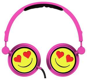 Kids emoji headphones with mic instore at  Home Bargains for £2.99