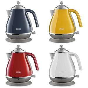DELONGHI Icona Capitals Stainless Steel Jug Kettle - White / Blue or RED 3000w £49.99 @ Currys