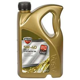 5w40 Synthetic oil at Asda for £14