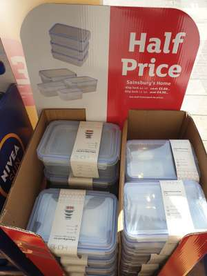 Half price storage tubs set in store nationwide at Sainsbury's for £4.99