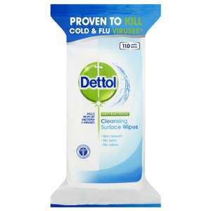Dettol Antibacterial Surface Cleaning Wipes, 330 Wipes, Pack of 3 x 110 - Amazon Prime Now