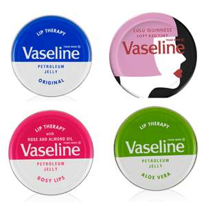 Vaseline lip therapy 20g tin 69p (Lulu Guinness, Aloe Vera, Rosy lips) @ Poundstretcher