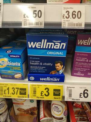 Wellman Tablets (30pk) for £3 instore in Asda