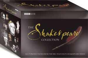 The Shakespeare Collection - BBC - 38 DVDs at Amazon for £49.98
