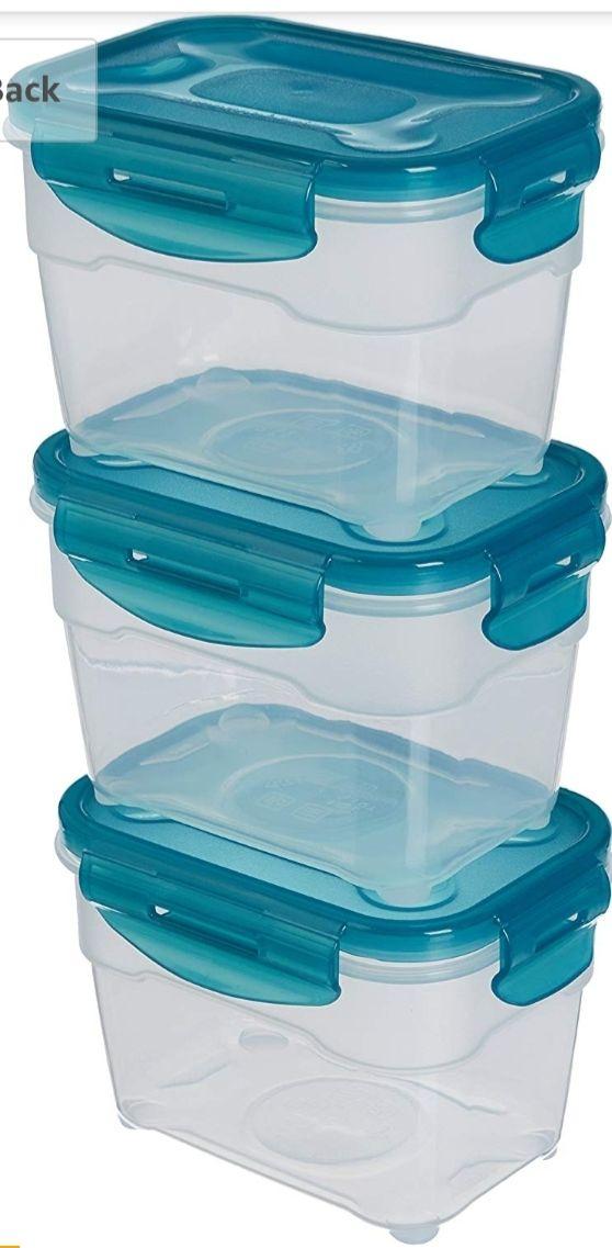 3 x 1.0 Liter AmazonBasics Air-Locked 3-Piece Food-Storage Set - £3.97 (Add-on item)