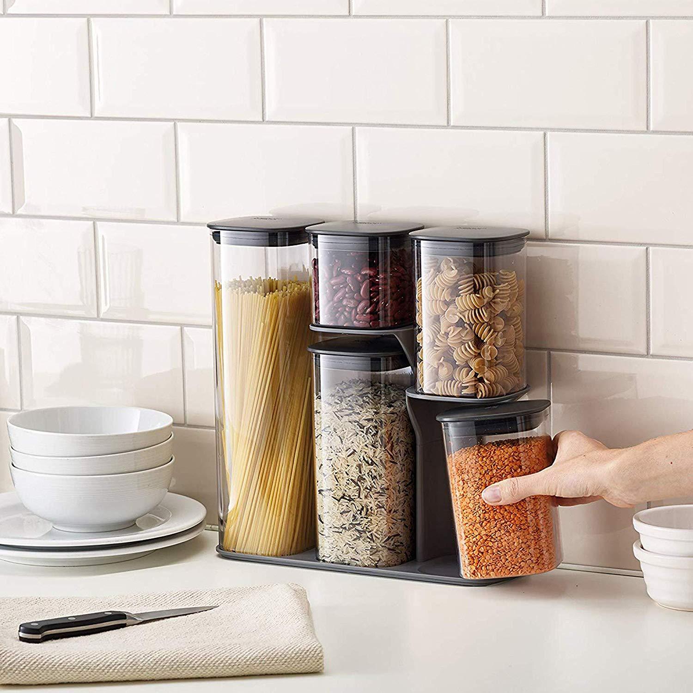 Joseph Joseph Podium 5 piece Storage jars for £26.19 at Amazon