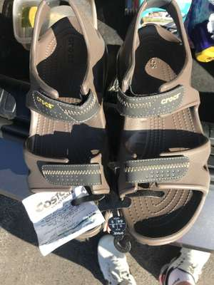 Crocs men's river sandals price is with the vat £4.70 at Costco instore