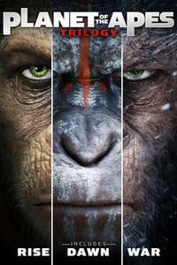 Rise, Dawn and War of the Planet of the Apes Trilogy Blu-ray boxset £7.49 with any purchase @ HMV