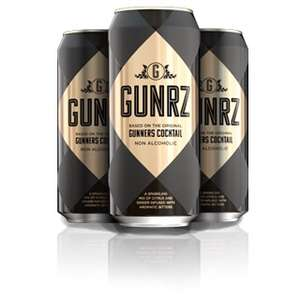Gunrz non alcoholic cocktail mixer (gunner cocktail) 29p at home bargains (500ml cans)