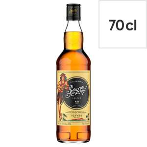 Sailor Jerry Spiced Rum - 70cl £10 at Tesco NI instore