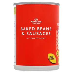 Morrisons Baked Beans & Sausages 400g for 40p