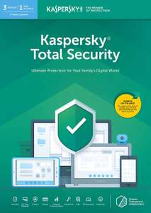 Kaspersky Total Security 2019 - 2 years. 3 devices £19.99 (Prime) / £22.98 (non Prime) Amazon