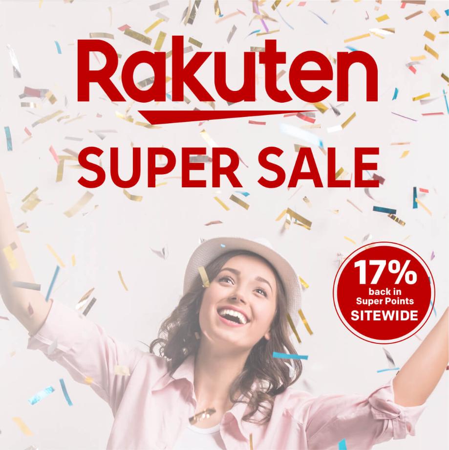17% back in Rakuten Super Points sitewide (230+ retailers) until 02/09 9am