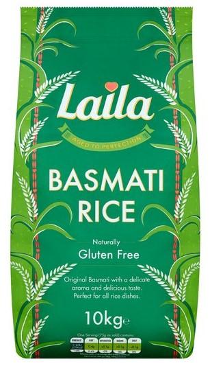 Laila Basmati Rice 10Kg for £10 @ Tesco