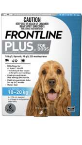 Frontline plus spot on Dog - Medium - buy one pack at £30.34 and get second pack half price @ Petprescriptions
