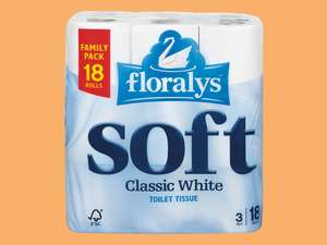 Florays Soft Classic White 18 3 ply Toilet Paper £3.19 at Lidl weekend offer