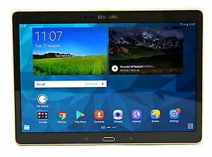 Samsung Galaxy Tab S 10.5 SM-T800 16GB Tablet (Refurb) : Titanium Bronze / White Gold £99.99 at blackmoreit eBay