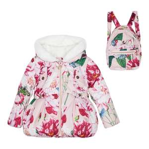 Ted Baker Girls' Pink Floral Coat and Backpack Set now £49 delivered @ Debenhams