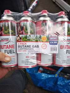 4 X Butane gas canisters NOW £1 at B&M instore