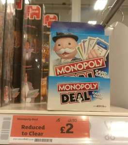 Monopoly Deal card game  £2 instore @ Sainsbury's Redhill