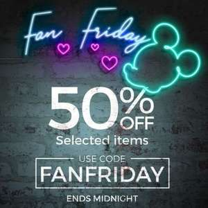 Fan Friday - Selected items 50% off @ shopDisney store
