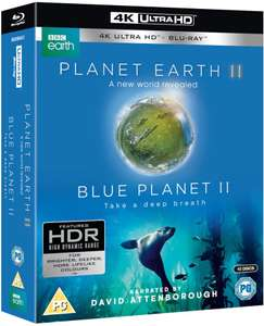 Planet Earth II & Blue Planet II 4K UHD + Blu Ray Box Set £25.19 + 99p delivery with code @ Zavvi