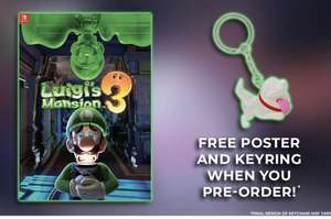 LUIGI'S MANSION 3 WITH FREE KEYRING AND POSTER (switch) £37.95 @ thegamecollection