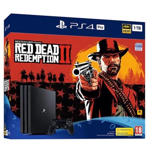 PS4 Pro 1TB Red Dead Redemption 2 Console Bundle £299.85 @ ShopTo